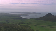 AERIAL United Kingdom-Ramsey Island Stock Footage