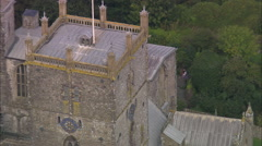 AERIAL United Kingdom-St David's And Cathedral Stock Footage