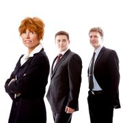 business team diversity happy isolated - stock photo