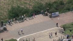 AERIAL Germany-Niederwalddenkmal Monument Stock Footage