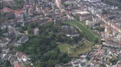 AERIAL Germany-Bingen - stock footage