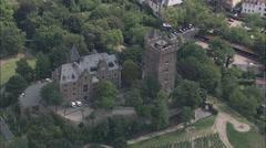 AERIAL Germany-Bingen Stock Footage