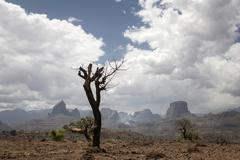 Simien Mountains National Park Ras Dashen Ethiopia Africa - stock photo