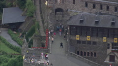 AERIAL Germany-Reichsburg Castle Stock Footage