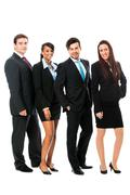 Business team diversity happy isolated Stock Photos