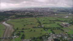 AERIAL United Kingdom-Caerleon Roman Arena - stock footage