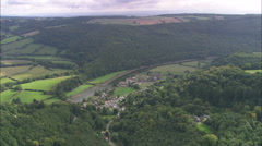 Symonds Yat On River Wye Stock Footage