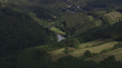 AERIAL United Kingdom-River Wye (Tintern To Monmouth) Stock Footage