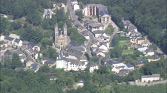AERIAL Luxembourg-Clervaux Klierf Stock Footage