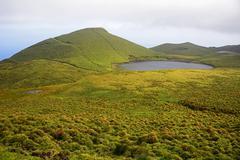 Lagoa do Peixinho Highlands Pico Azores Portugal Europe Stock Photos