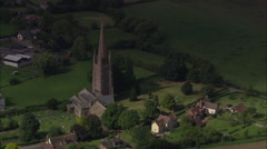 AERIAL United Kingdom-Weobly Village Stock Footage