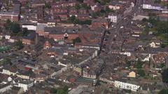 AERIAL United Kingdom-Leominster Stock Footage