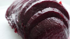 Beetroot  cooked vegetable smaller pieces 4K 3840X2160 UltraHD footage - Beta Stock Footage