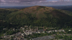 AERIAL United Kingdom-Great Malvern And Malvern College Stock Footage