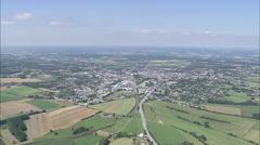 AERIAL Belgium-Arlon Stock Footage