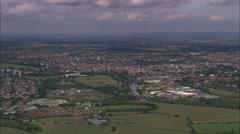 AERIAL United Kingdom-Royal Worcester China Works Stock Footage