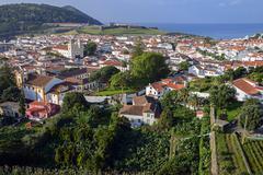 Townscape Angra do Heroismo Terceira Azores Portugal Europe - stock photo