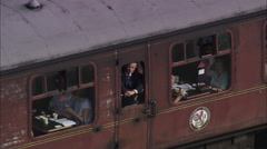 AERIAL United Kingdom-Severn Valley Railway 1 Stock Footage
