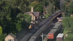 AERIAL United Kingdom-Severn Valley Railway 2 Stock Footage