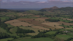 AERIAL United Kingdom-The Long Mynd And Church Stretton Stock Footage
