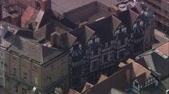 AERIAL United Kingdom-Shrewsbury Stock Footage