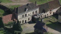AERIAL Belgium-Old Farmhouse Stock Footage