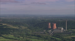 AERIAL United Kingdom-Ironbridge Gorge And River Severn Stock Footage