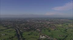 AERIAL United Kingdom-Stafford Stock Footage