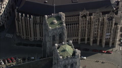 AERIAL Belgium-St Michael's Cathedral Stock Footage