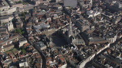 AERIAL Belgium-Grand Palace Stock Footage