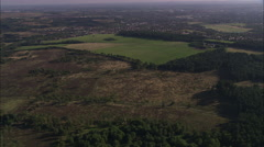 AERIAL United Kingdom-Cannock Chase Stock Footage