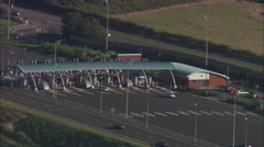 AERIAL United Kingdom-M6 Toll Road By Norton Canes Services Stock Footage