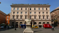 Streetscene in downtown Rome Stock Footage