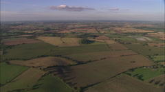 AERIAL United Kingdom-Evening Light On Landscape Stock Footage