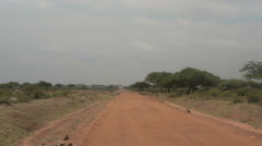 Driving on bumpy dirt road, Kisima Maralal, Samburu, Kenya, Africa Stock Footage