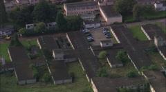 AERIAL United Kingdom-Bletchley Park Stock Footage