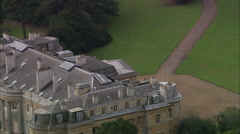 AERIAL United Kingdom-Luton Hoo Stock Footage