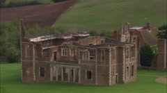 AERIAL United Kingdom-Houghton House (Ruins) Stock Footage