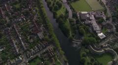 AERIAL United Kingdom-Bedford Stock Footage
