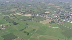 AERIAL Belgium-Flanders Landscape Stock Footage