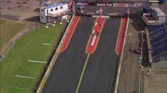 AERIAL United Kingdom-Santa Pod Raceway - stock footage