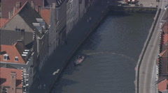 AERIAL Belgium-Bruges Waterways Stock Footage