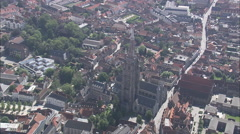AERIAL Belgium-Curch Of Our Lady Stock Footage