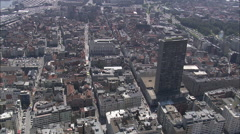 AERIAL Belgium-Ostend Stock Footage