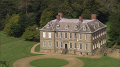 AERIAL United Kingdom-Stanford Hall Stock Footage