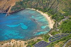 Aerial view Hanauma Bay Oahu Hawaii United States North America Kuvituskuvat