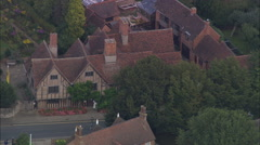 AERIAL United Kingdom-Stratford-Upon-Avon - stock footage