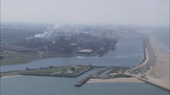 Dunkirk Oil Refinery Stock Footage