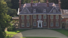 AERIAL United Kingdom-Honington Hall - stock footage
