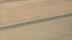 AERIAL France-D1001 Trunk Road Stock Footage
